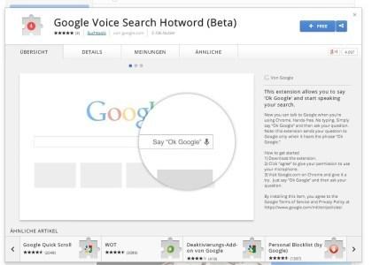 Google Chrome Hotword