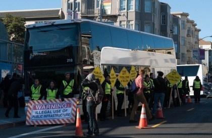 Blockierter Google-Bus