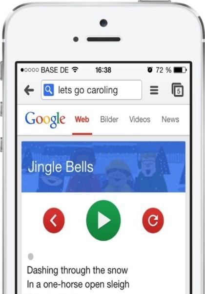 Weihnachtliches Google-Easter-Egg