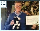 "Bill Gates als ""Secret Santa"""