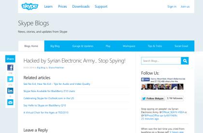 Skype: Gehackter Blog