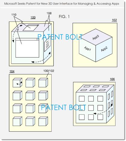 Microsoft Patent für 3D-UI