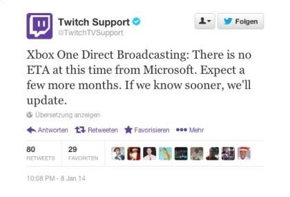 Xbox One: Twitch Streaming