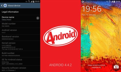 Samsung Galaxy Note 3: Android 4.4.2