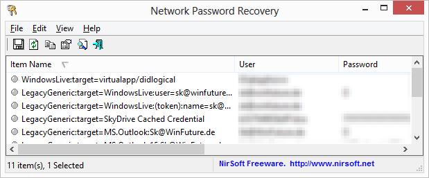Passwörter Auslesen