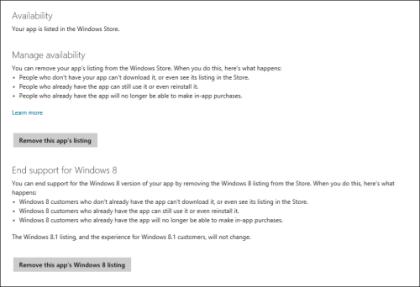 Update f�r Windows Store f�r Entwickler