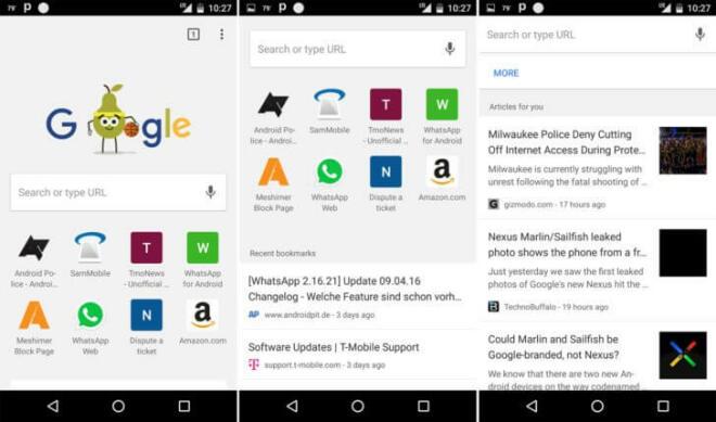 Google Now in der Chrome Beta