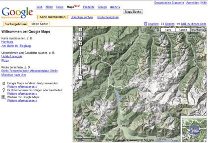 Google Erweitert Maps Mit Neuer Terrain Ansicht Winfuture De