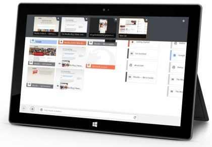 Firefox for Windows 8 Touch