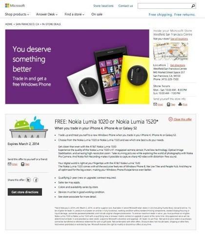 Windows Phone Tausch-Aktion