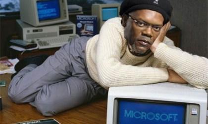 Samuel L. Jackson als 'Bill Gates'