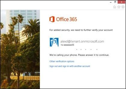 Zwei-Faktor-Authentifizierung f�r Office 365