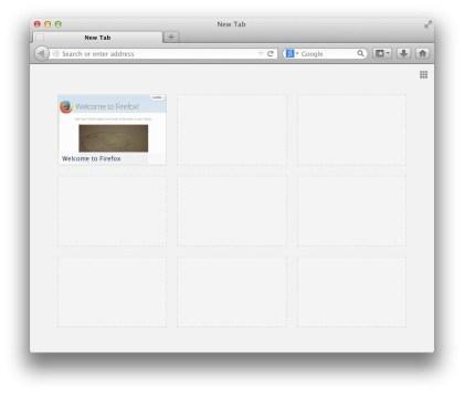 """Firefox: """"Neuer Tab""""-Seite"""