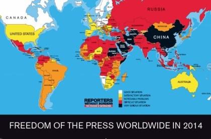 ROG: Übersicht Pressefreiheit