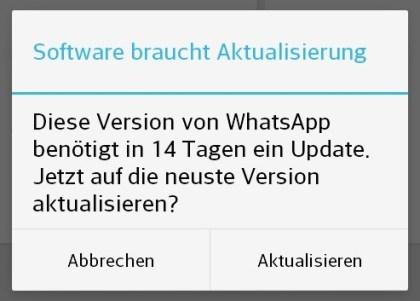 WhatsApp 14-Tage-Bug