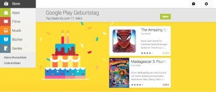 Google Play Geburtstag