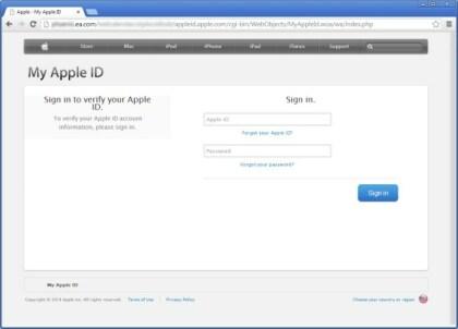 Fake-Apple-Seite
