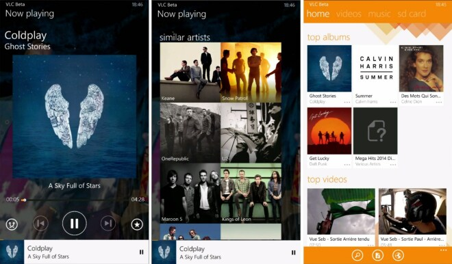 VLC für Windows Phone 8.1