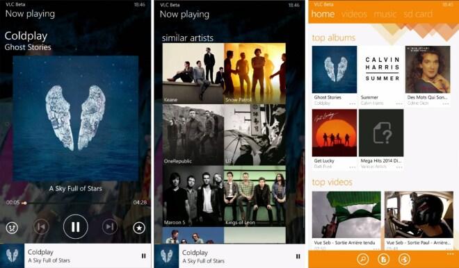 VLC f�r Windows Phone 8.1