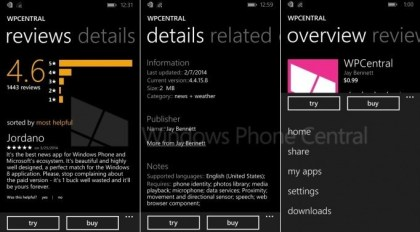 Windows Phone Store in WP8.1