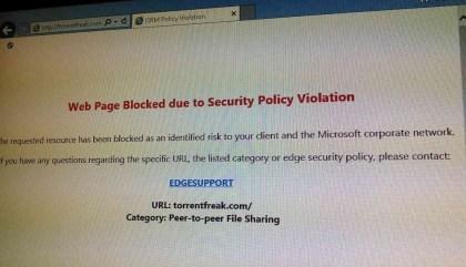TorrentFreak-Blockade bei Microsoft
